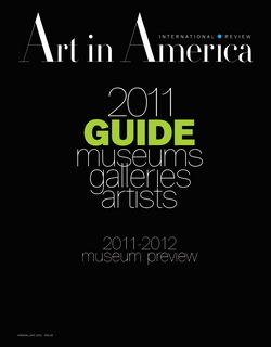 Art In America - Art In America 2011 Guide to Galleries